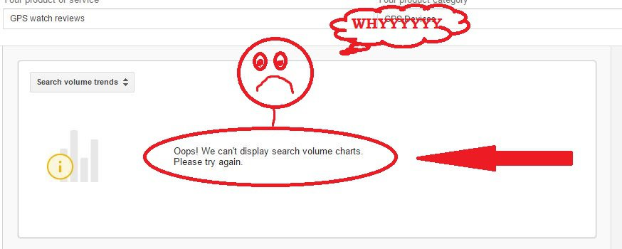 google keyword planner cannot find results