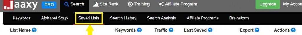 jaaxy strip search bar, keyword research