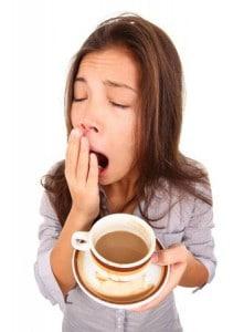 Boring pace at chris farrell membership, girl drinking coffee bored