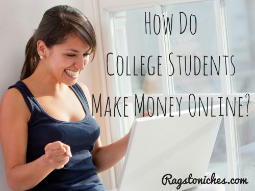 how do college students make money online