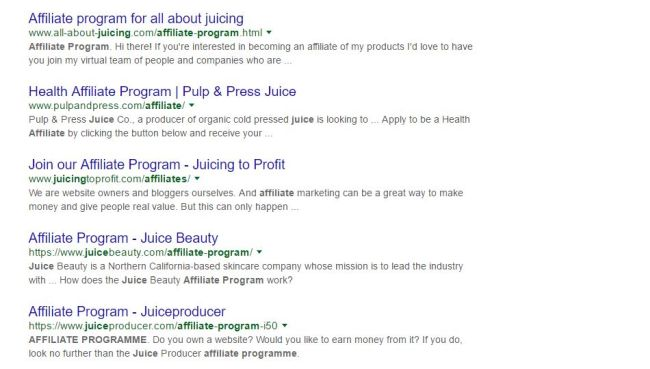 juicing affiliate programs