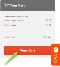 namecheap cart