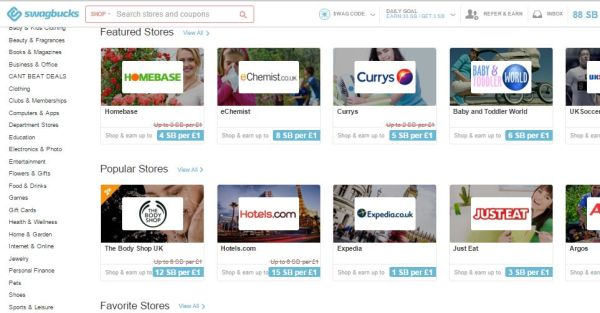 Swagbucks shopping picture