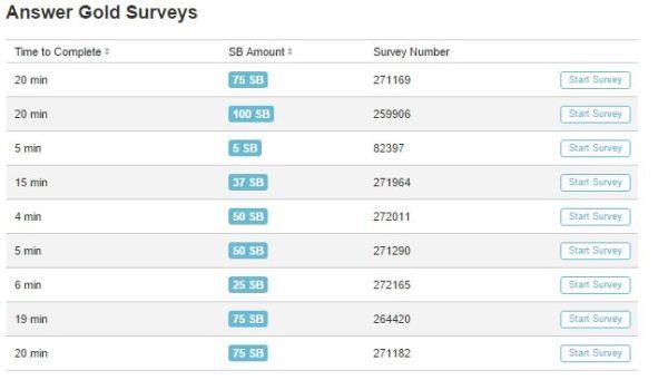 swagbucks survey pic