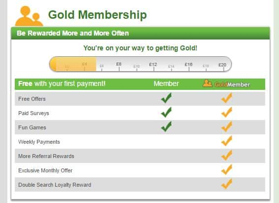 inbox pounds gold membership