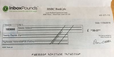 inbox pounds cheque payout