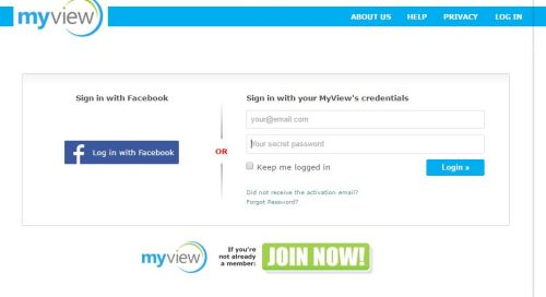 myview sign up