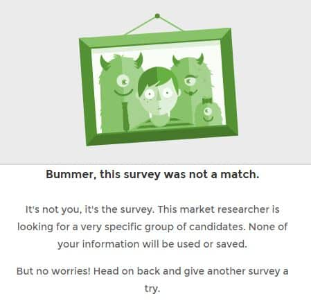 inbox pounds survey not qualified