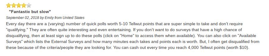 tellwut review slow
