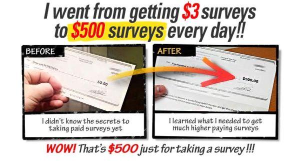 take surveys for cash proof