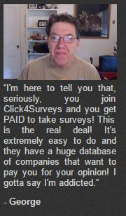 click4surveys honest george fake testimonial