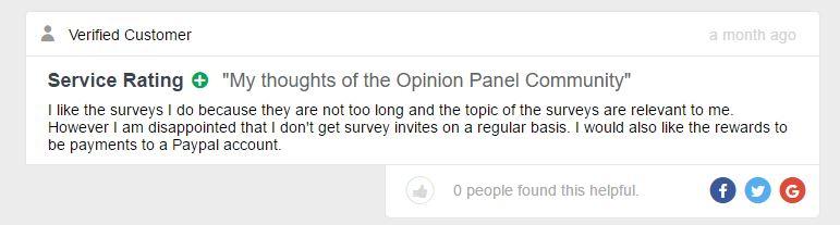 opinion panel complaint