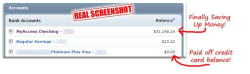screenshot bank balance
