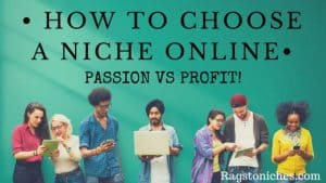 how to choose a niche online