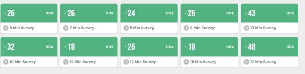 earnhoney dollars surveys