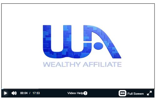wealthy affiliate video screenshot