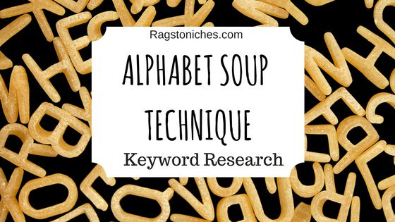 how to find great keywords alphabet soup technique