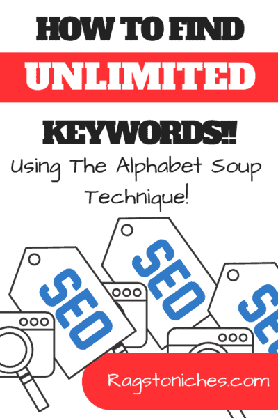 how to find great keywords using the alphabet soup technique