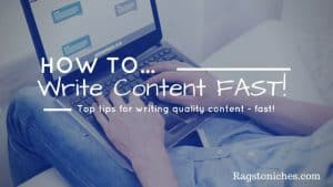 How To Write Content For Your Website FAST!  (That Doesn't Suck!)