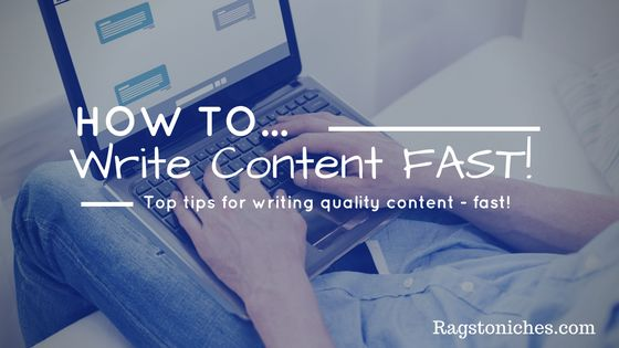 how to write content for your website fast