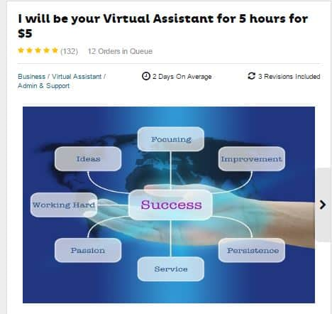 virtual assistant work fiverr