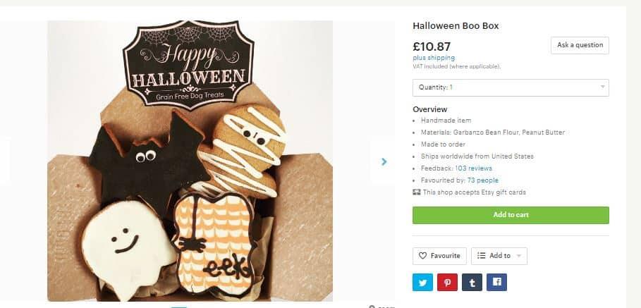 etsy halloween biscuits