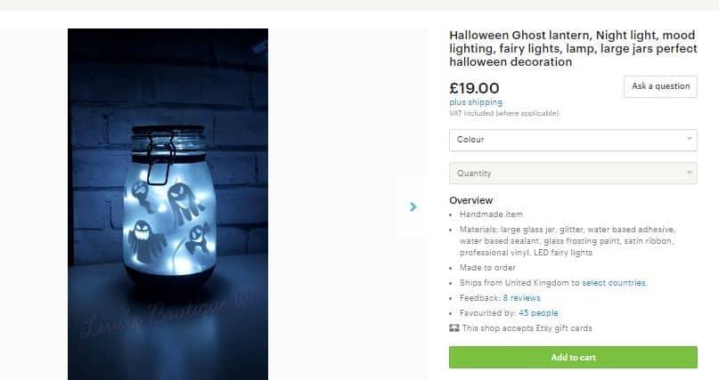 etsy halloween lantern