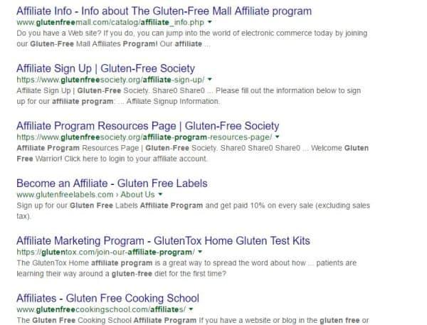 gluten free niche