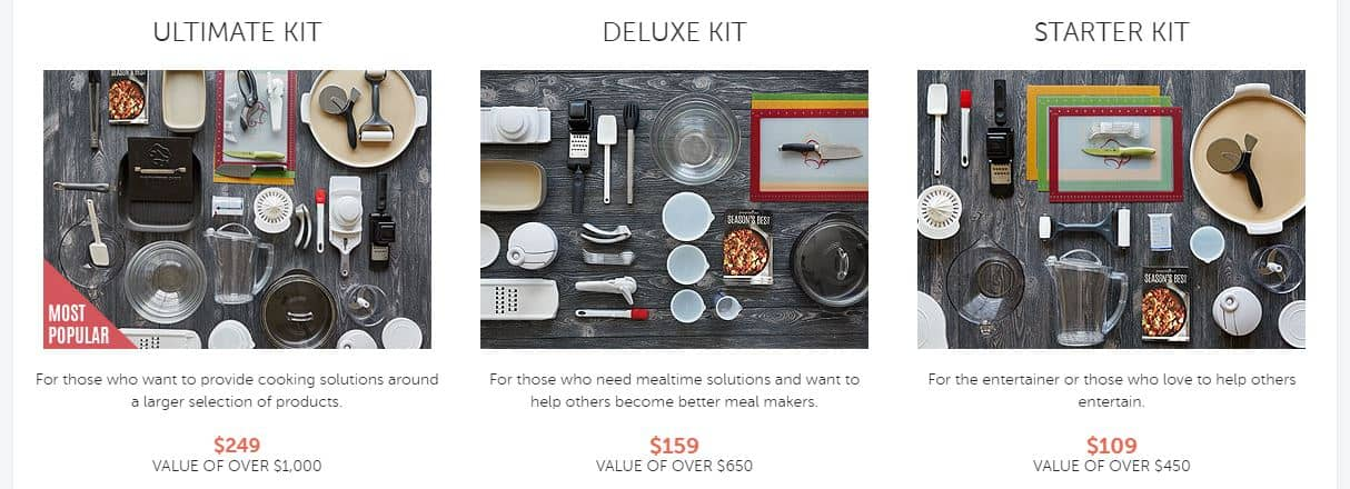 pampered chef starting kits