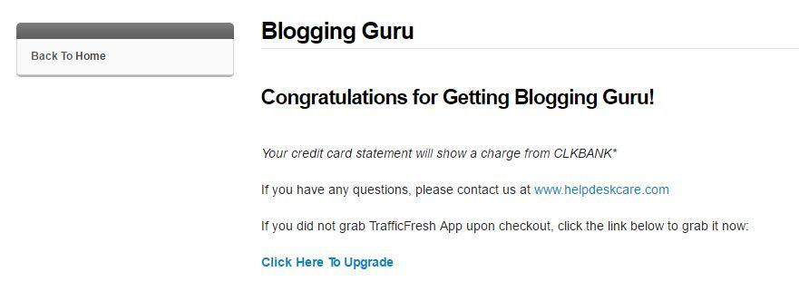 blogging guru blueprint congrats