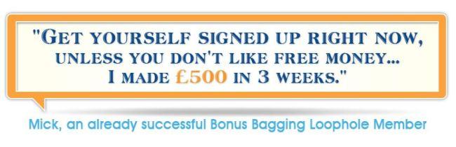 bonus bagging testimonial