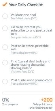 dealspotr daily checklist