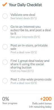 dealspotr daily checklist