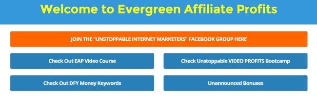 evergreen affiliate profits product