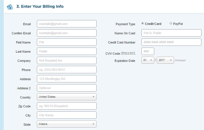 host gator billing info