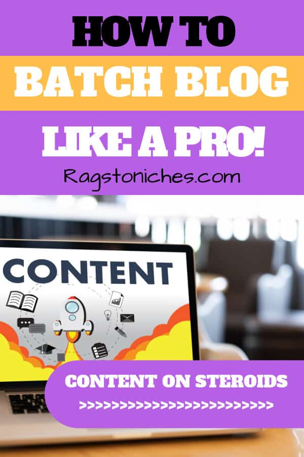 how to batch blog like a pro