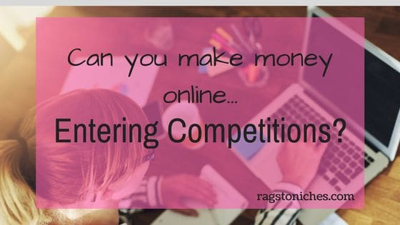 can you make money entering competitions online