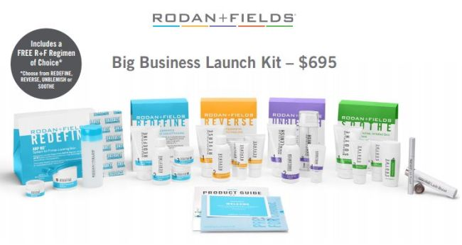 rodan fields big business launch kit