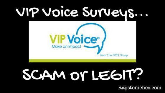 vip voice surveys scam or legit