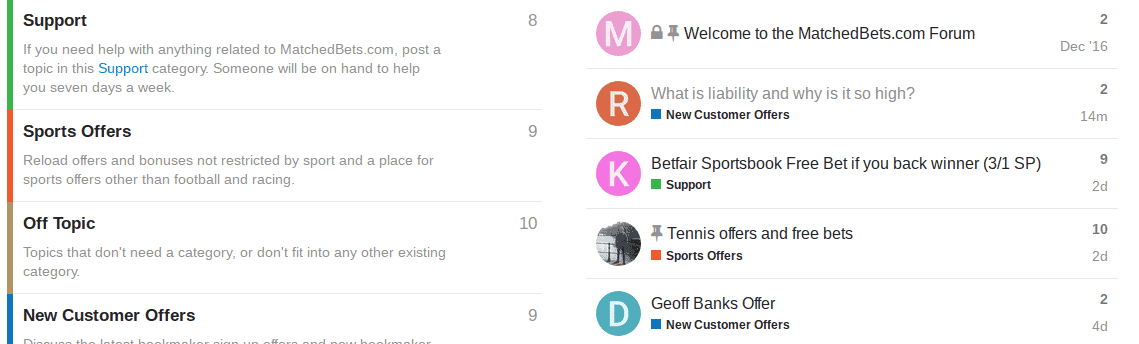 matched bets forum