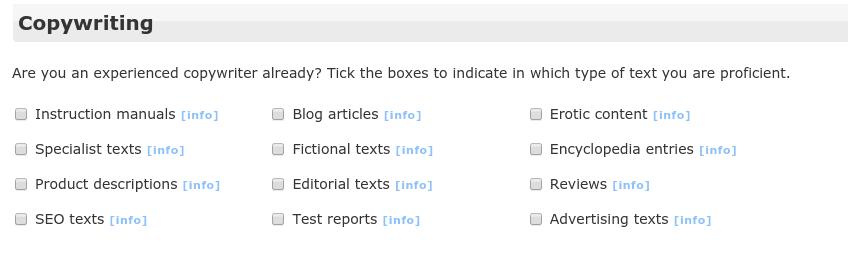 clickworker skills