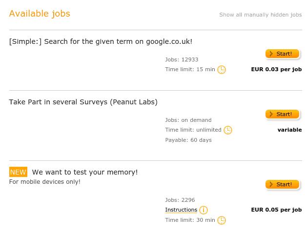 Clickworker Job