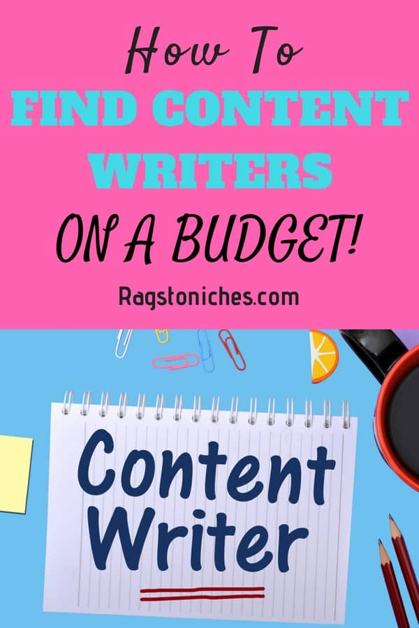 how to find content writers on a budget