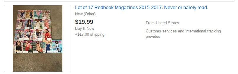 magazines ebay