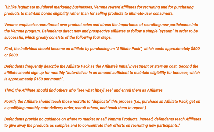 Vemma FTC allegations scam
