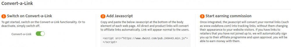 convert a link AWIN plugin