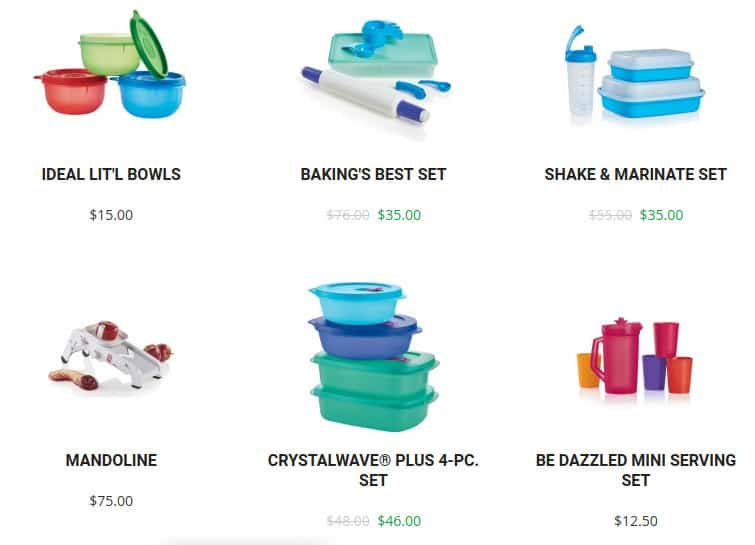 tupperware products and cost