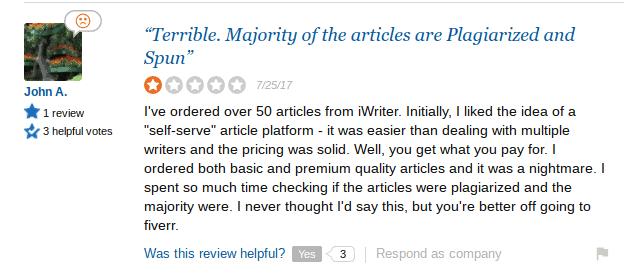 iwriter spun content
