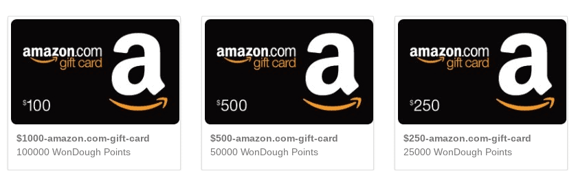 wondough amazon cards