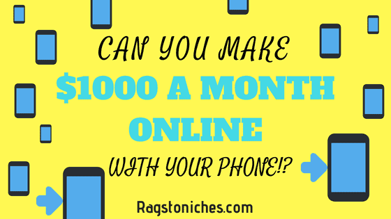 can you make 1000 a month with your phone